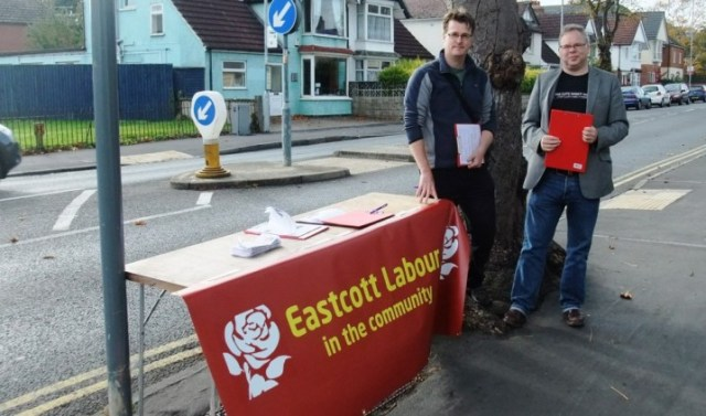 Andy Newman campaigning for Labour in Swindon