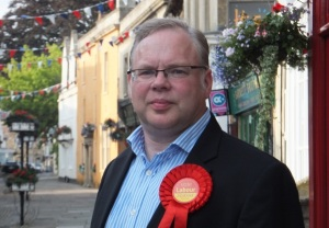 Andy Newman, Labour Party in Corsham High Street, Chippenham #