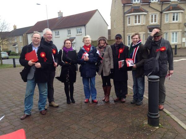 Corsham campaigning in the rain