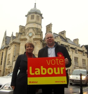 Labour parliamentary candidate, Andy Newman, and Euro candidate Clare Moody, campaigning in Bradford on Avon, Chippenham constituency - copyright Steve Reckless